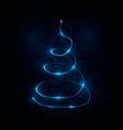 abstract light christmas tree vector image vector image