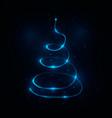 abstract light christmas tree vector image