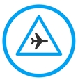 Airplane Danger Circled Icon vector image vector image
