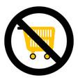 ban shopping symbol vector image vector image