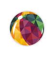 beach ball isolated icon