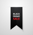 Black Friday sales tag EPS 10 vector image vector image