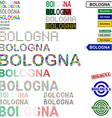 Bologna text design set vector image vector image