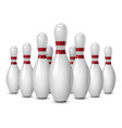 bowling competition icon realistic style vector image