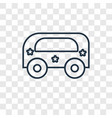 bus toy concept linear icon isolated on vector image