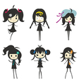 Cartoon Girl Group Children vector image