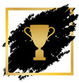 champions cup sign golden icon at black vector image vector image