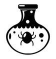 chemical bug icon simple style vector image vector image