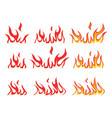 collection fire icons vector image