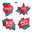 collection sale discount styled origami vector image