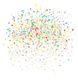colorful confetti on white vector image vector image