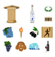 country greece cartoon icons in set collection for vector image