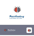 creative brain processor logo design flat color vector image