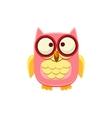 Cross-eyed Pink Owl vector image vector image