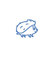 cute hedgehong line icon concept cute hedgehong vector image vector image