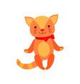 cute soft kitten plush toy stuffed cartoon animal vector image vector image