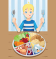 eating boy vector image