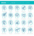 education and learning mind process icons vector image