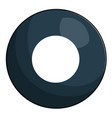 eight ball billiard icon vector image