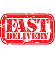 Fast Delivery stamp vector image