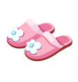 female slippers home footwear isolated pair vector image
