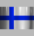 finland flag metallic texture abstract background vector image