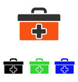 first aid toolbox flat icon vector image vector image