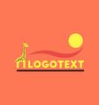 flat icon on background giraffe logo vector image vector image