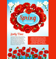 floral poster for spring holiday greetings vector image vector image