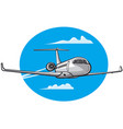 flying air private jet vector image vector image