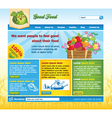 food website template vector image vector image