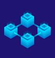 futuristic teamwork icon isometric style vector image