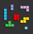 game tetris pixel bricks colorfull game background vector image vector image