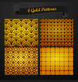 gold patterns vector image