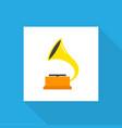 gramophone icon flat symbol premium quality vector image