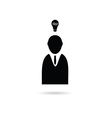 idea with people icon vector image vector image
