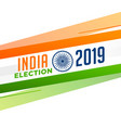 indian election flag background design vector image vector image
