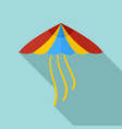 kite icon flat style vector image vector image