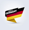 made in germany flag vector image vector image