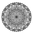 mandala circle with floral elements sacred vector image