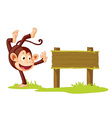 Monkey sign vector | Price: 1 Credit (USD $1)