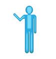 object blue man waving symbol vector image vector image