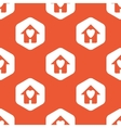 Orange hexagon love house pattern vector image vector image