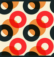 overlaying color circles seamless pattern vector image