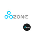 ozone word logo with o3 molecule structure ozone vector image vector image