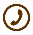 phone thin line icon phone icon in circle vector image vector image