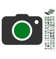 Photo Camera Icon With Bonus vector image vector image