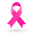pink ribbon on white background vector image vector image