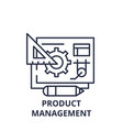 product management line icon concept product vector image vector image