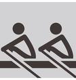 Rowing icon vector image vector image